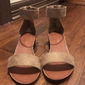 suede material block heels